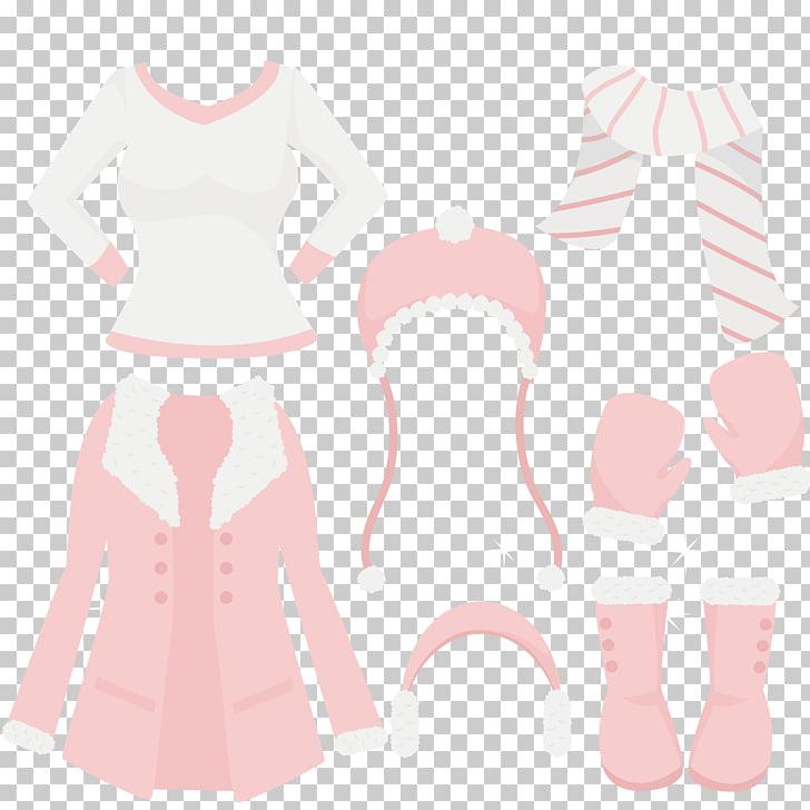 Guantes de manga rosa, accesorios de ropa de invierno.