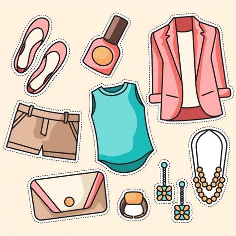 Vector Conjunto De Ropa Moda Mujer, Bufanda, Venta, Set PNG.