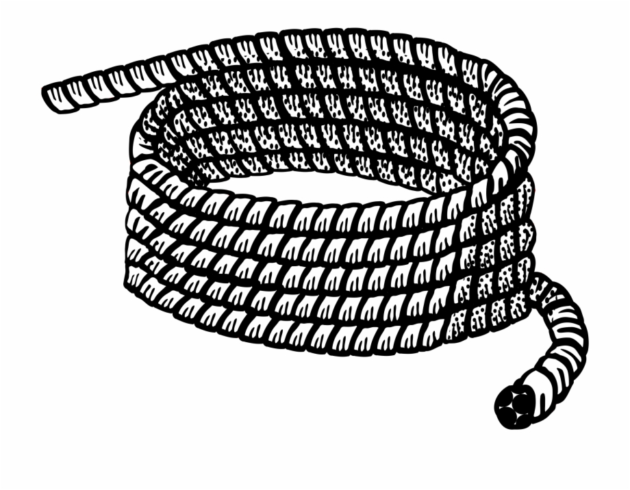 Free Rope Clipart Black And White, Download Free Clip Art.