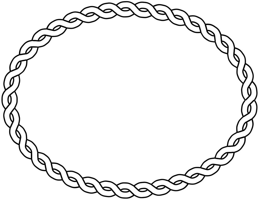 Square Rope Border Clip Art.