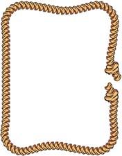 Free rope border clip art.