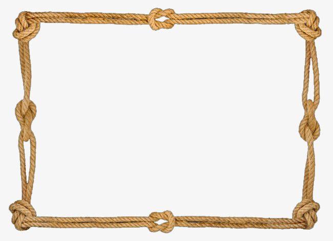 Rope Border, Rope Clipart, Hemp Rope, Frame PNG Transparent.