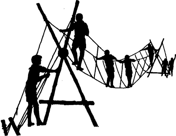boy scout rope bridge image.