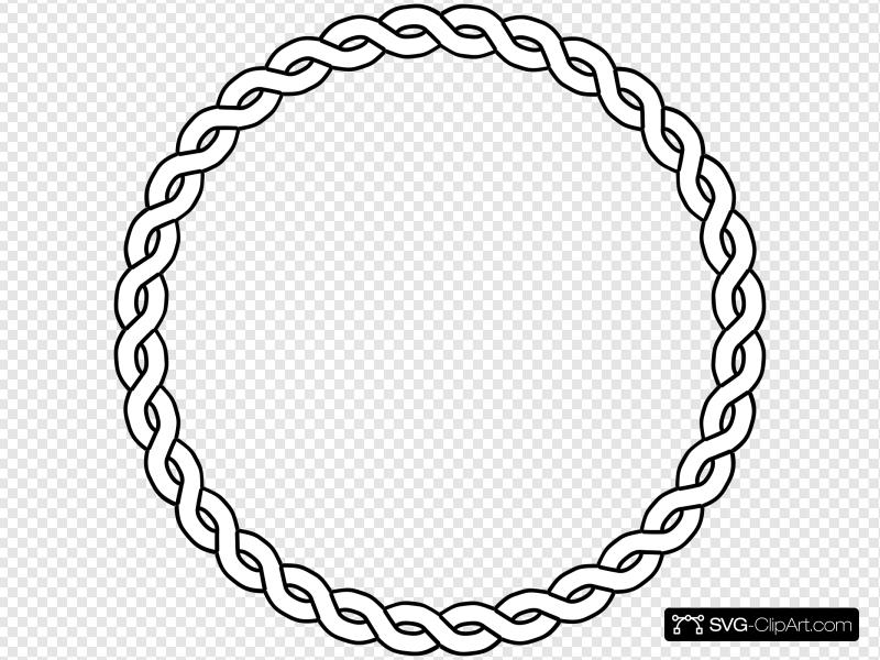 Rope Border Circle Clip art, Icon and SVG.