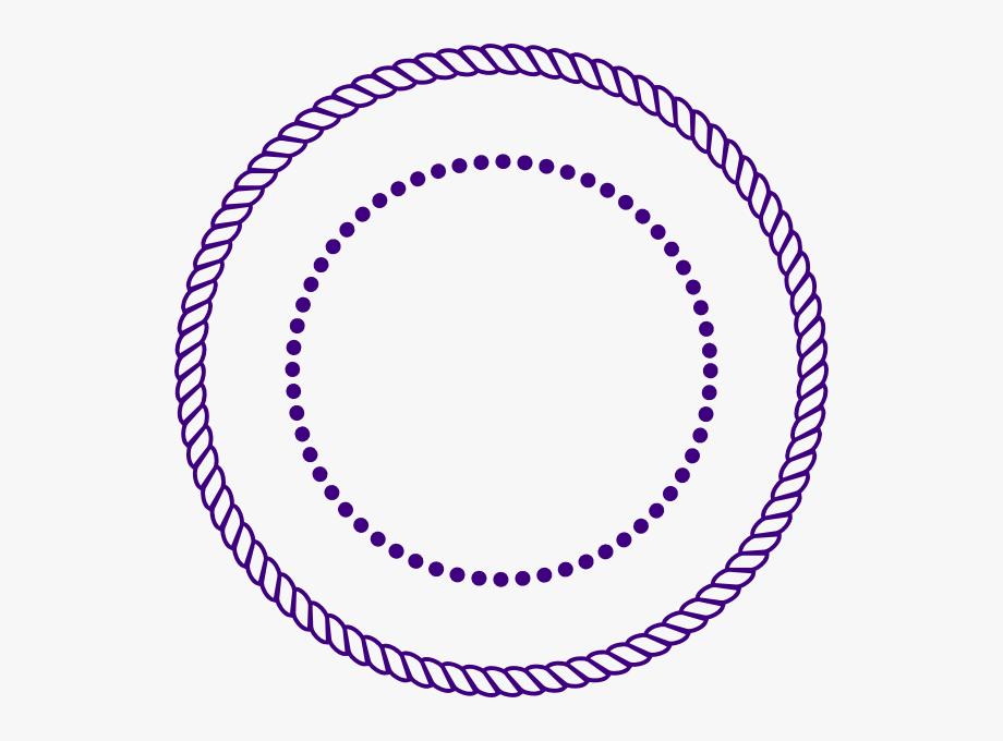 Rope Circle Border Vector.