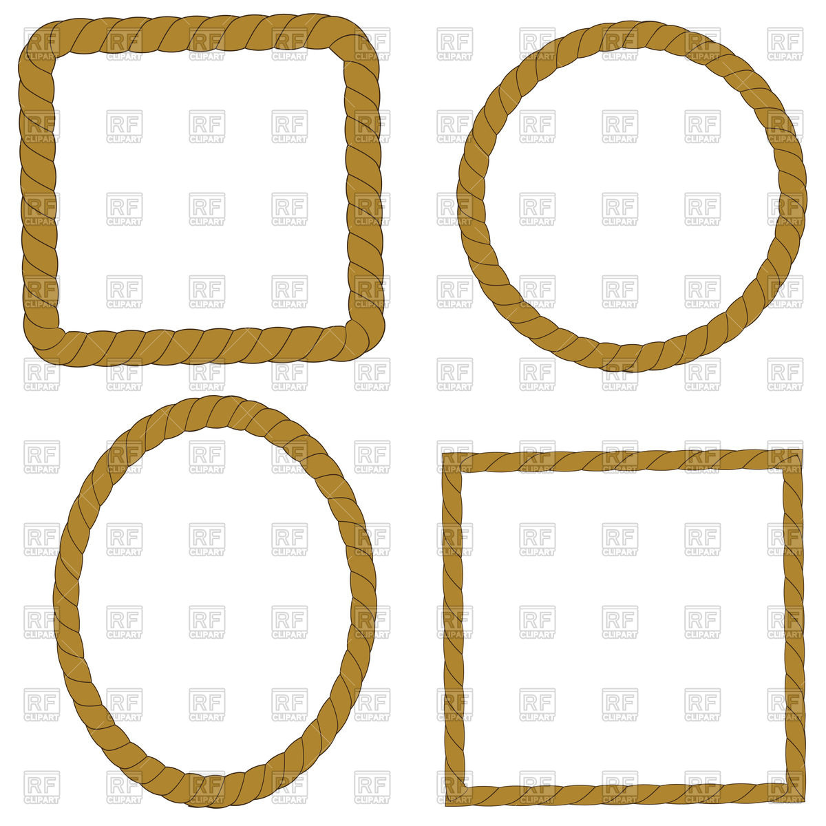 Set of rope frames Vector Image #70961.