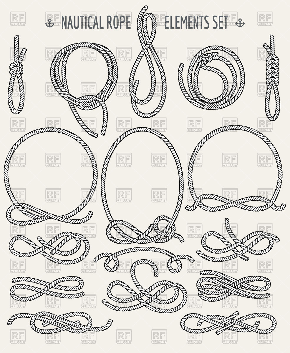 Nautical rope design elements.