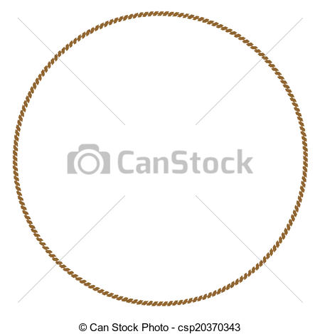EPS Vector of Rope Circle.