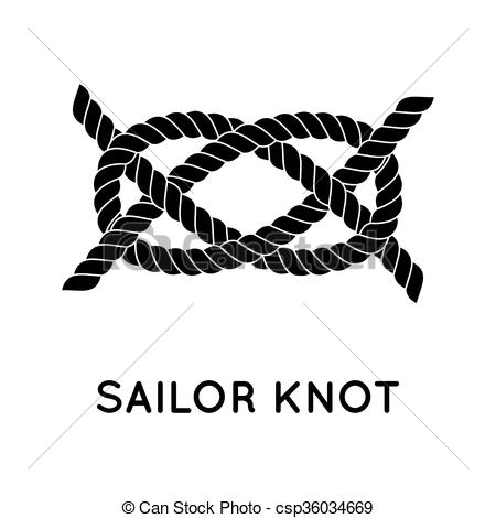 Clip Art Vector of Sailor rope knot.