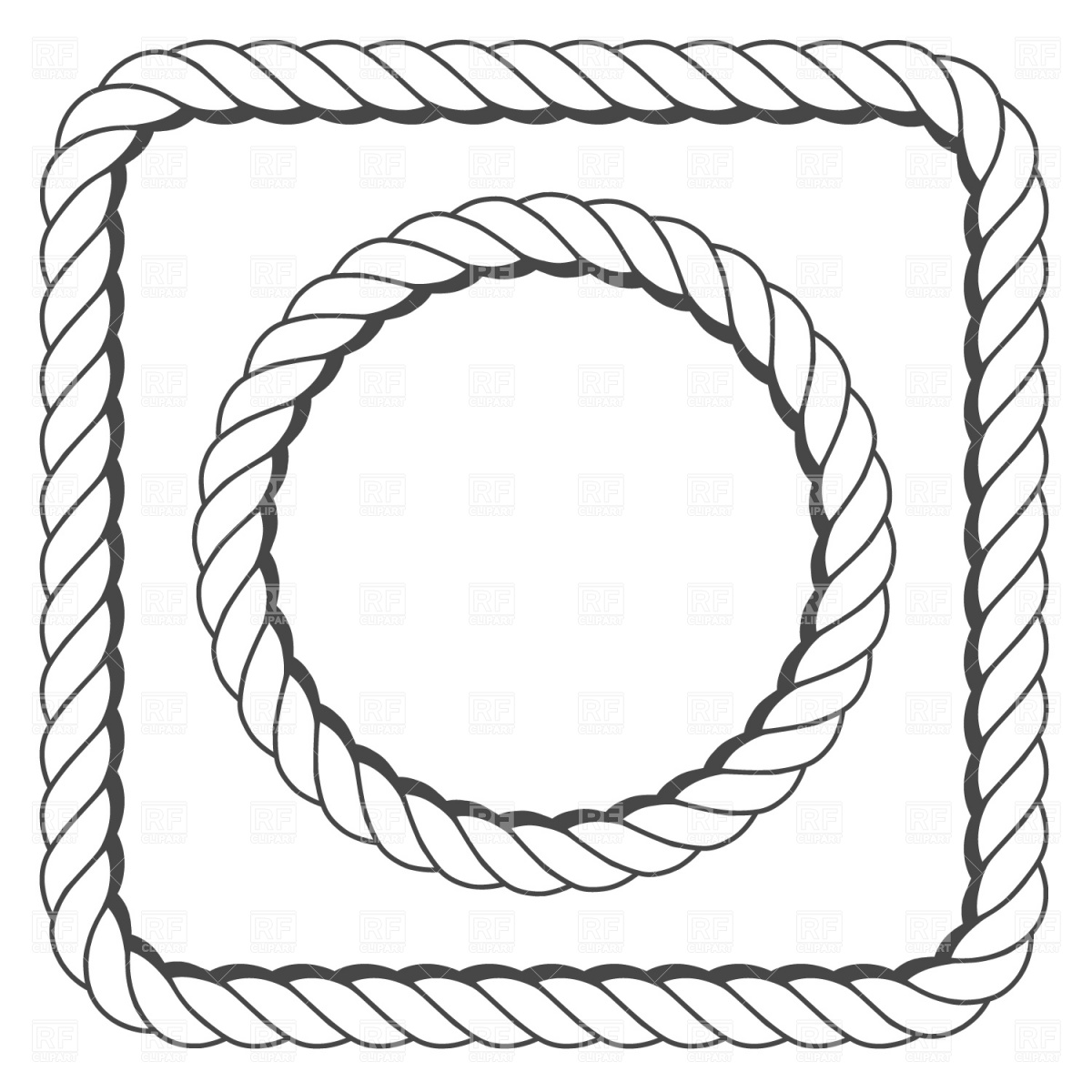 Rope Clipart Eps.
