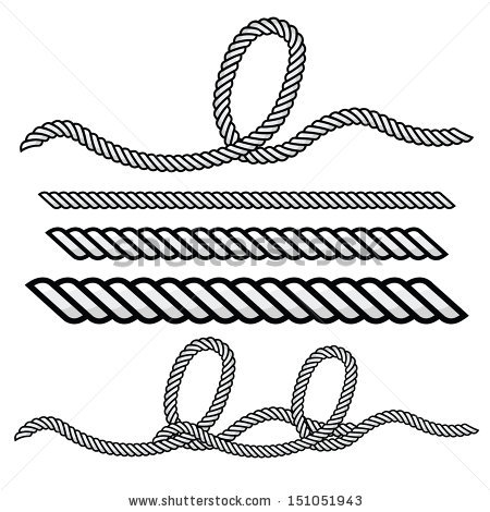 Vector Images, Illustrations and Cliparts: rope outline vector.