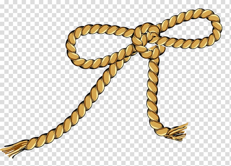 Rope Knot Hanging, Bow rope transparent background PNG.