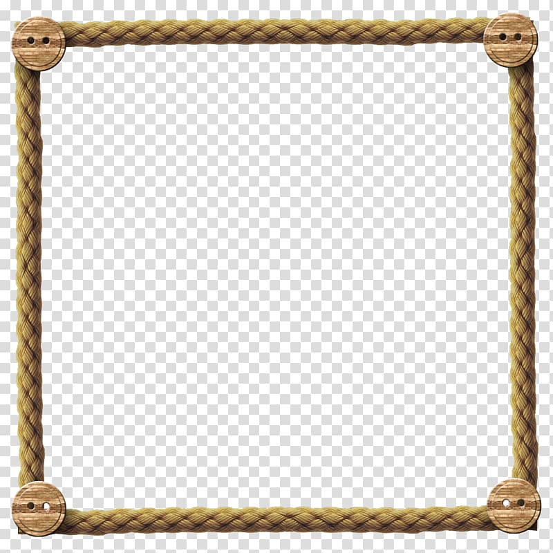 Square beige rope frame, Borders and Frames Rope Frames.