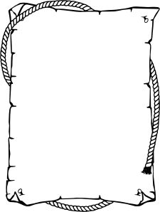rope border circle black white line art coloring.