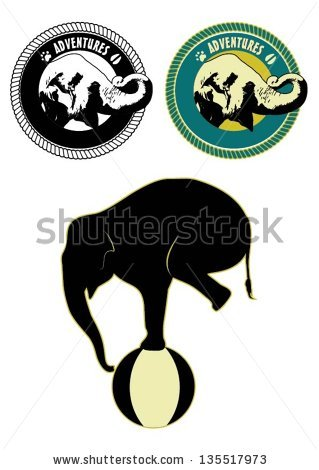 Circus Elephant Stock Images, Royalty.