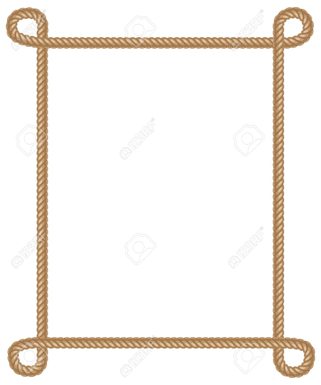 Rope frame silhouette clipart clipground Rope photo frame