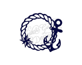 Nautical rope frame.