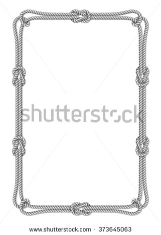 Nautical Rope Border Stock Images, Royalty.