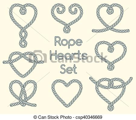 Rope Heart Clipart.
