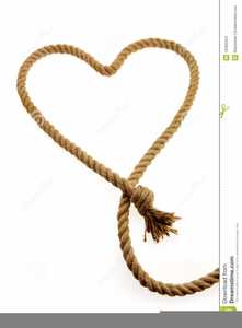 Heart Shaped Rope Clipart.