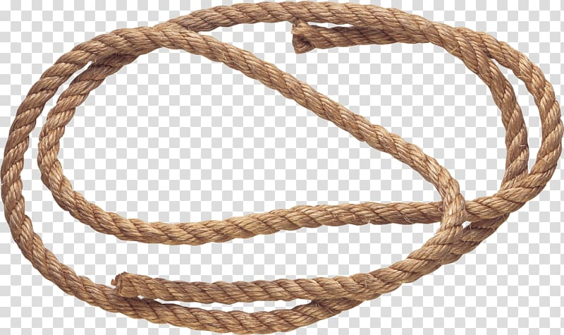 Brown rope forming round shape, Small Rope HD transparent.