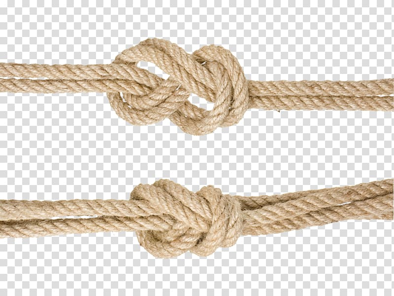 Two knots of brown ropes, Rope Knot Hemp Google Knotted rope.