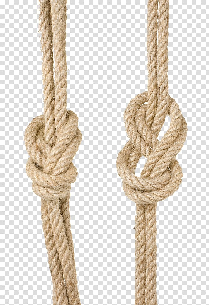 Two brown twisted ropes, Knot Ship Rope Sailor , Two rope.