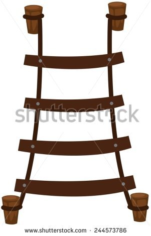 Wooden Rope Ladder Stock Photos, Royalty.