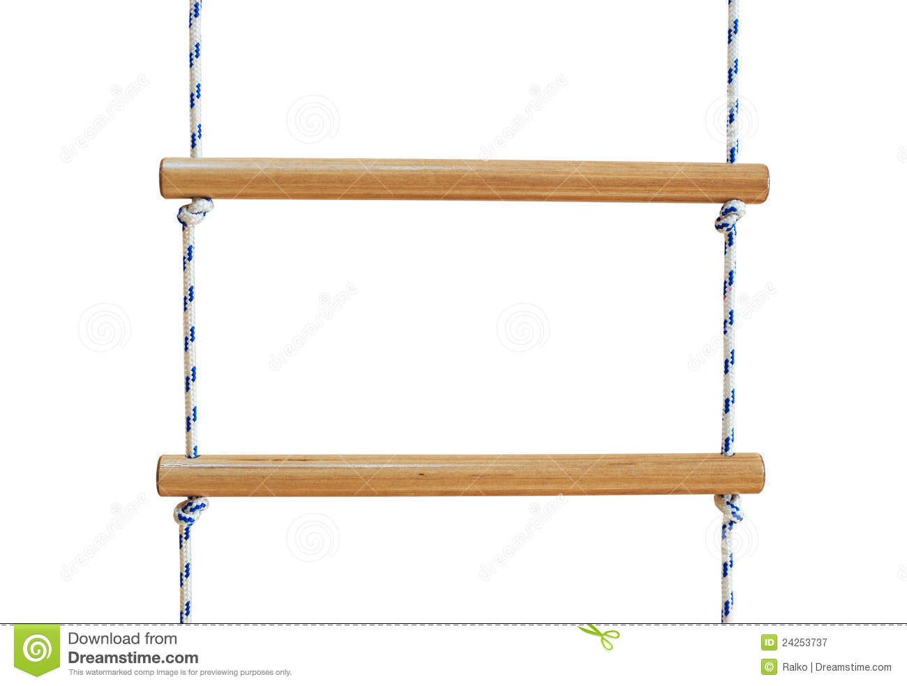 Wooden Rope Ladder Royalty Free Stock Photography.