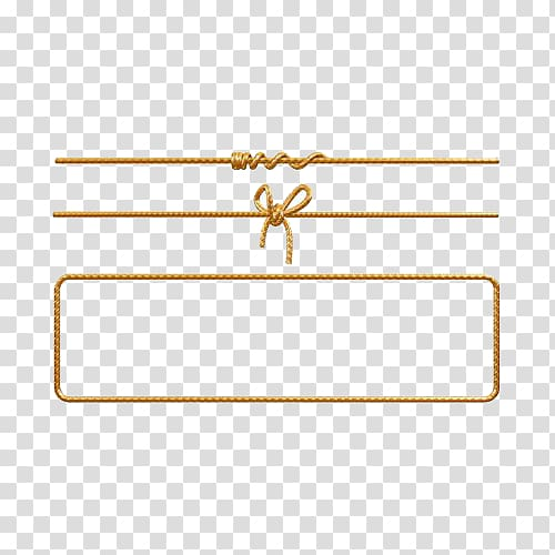 Brown rope borders, Rope , Gold bow rope dividing line.