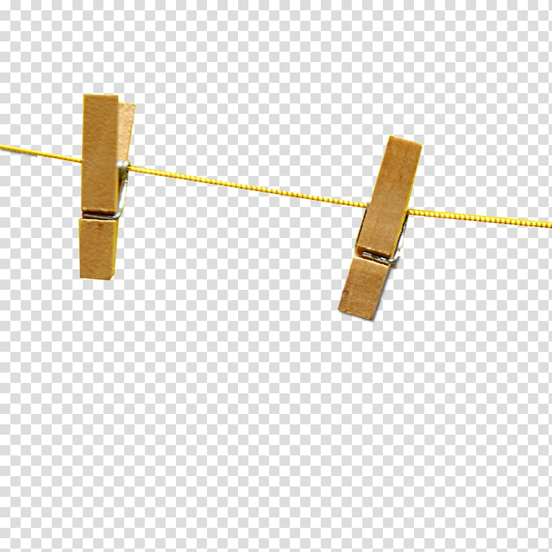 Rope line Hemp , Two hanging on a rope clip transparent.