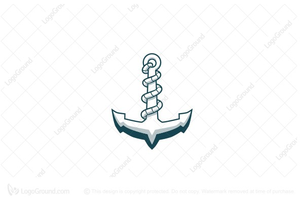 Exclusive Logo 94578, Anchor With Rope Logo.