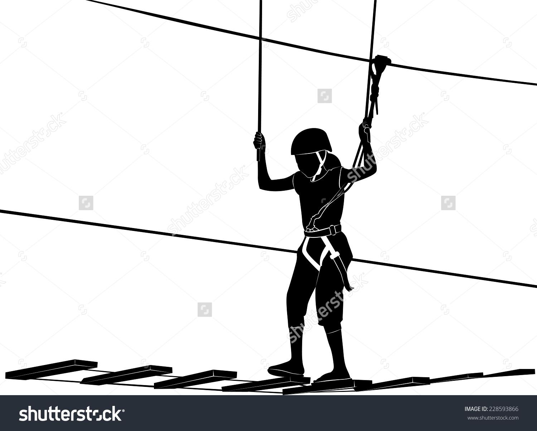 Children Adventure Park Rope Ladder Stock Vector 228593866.