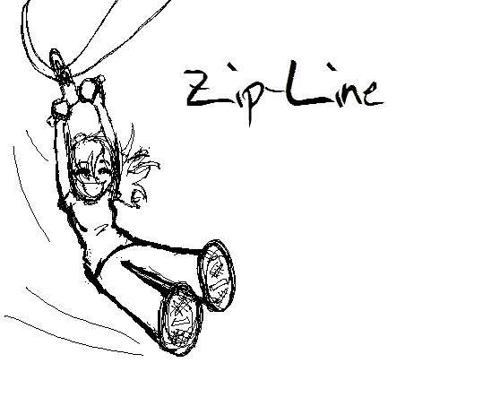 Zip line clip art.