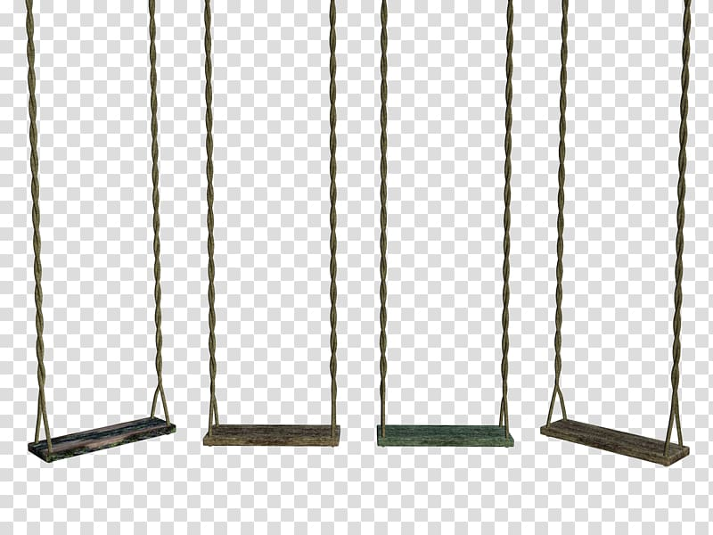 Four brown wooden swing chairs art, Rope Swing, Four swing.
