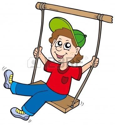 rope swing : Boy on swing.