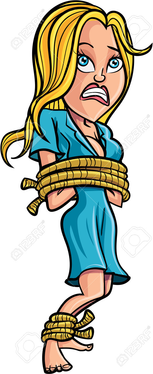 Box tied up with rope clipart.