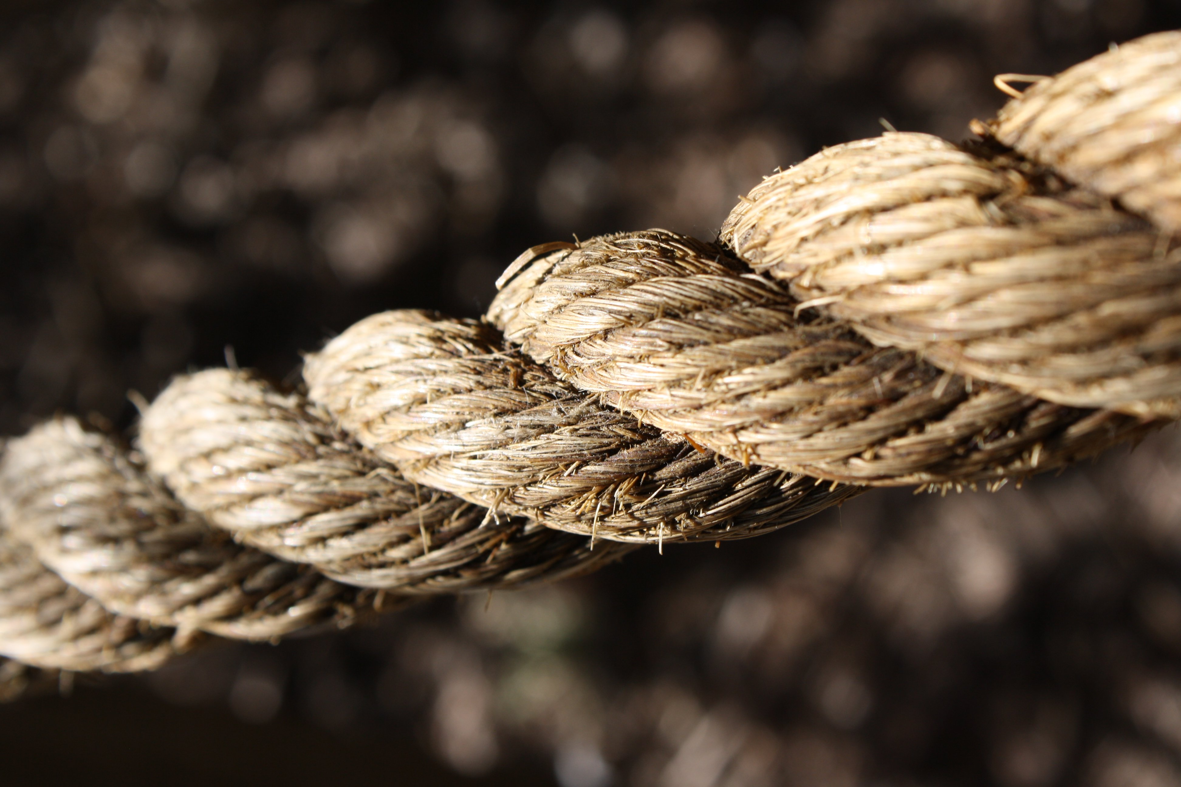 Twisted Rope Close Up Picture.