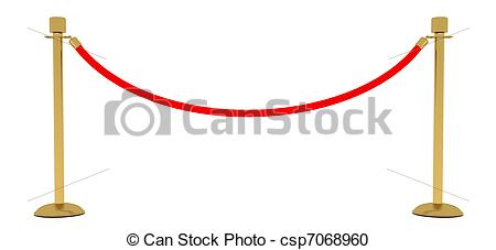 Stock Illustration of red rope barrier csp7068960.