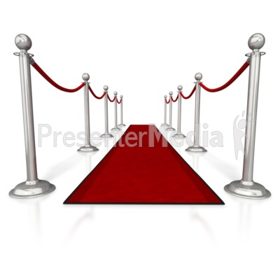 Red Carpet and Ropes.