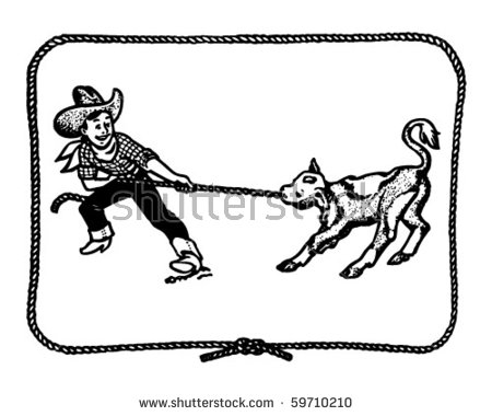 Calf Roping Stock Images, Royalty.