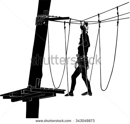Ropes course clip art.