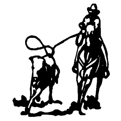 Calf roping clipart.