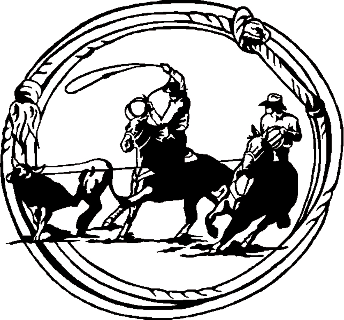 Roping clipart #2