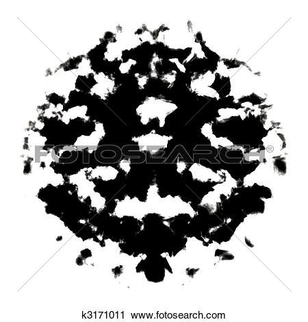 Clipart of Rorschach inkblot k3171011.