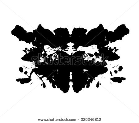 Rorschach Inkblot Stock Images, Royalty.