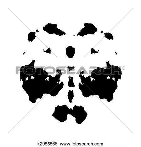 Stock Illustration of Rorschach inkblot k2985866.