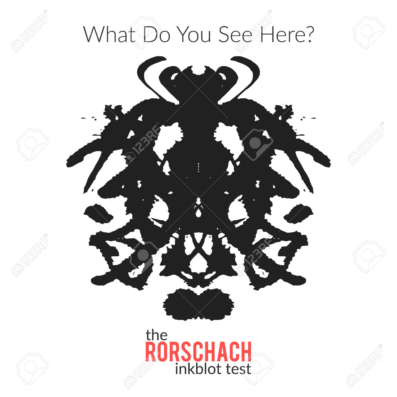 The Rorschach Inkblot Test Vector Isolated Variation For.