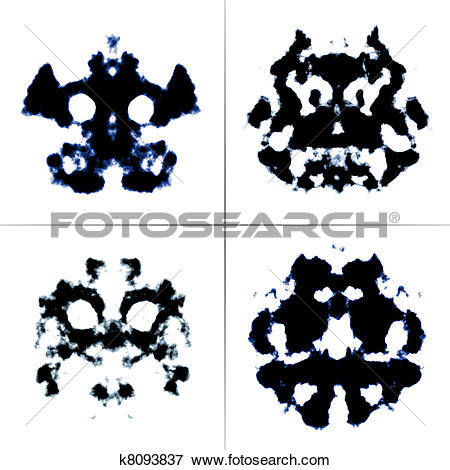 Stock Illustration of Rorschach test k8093837.