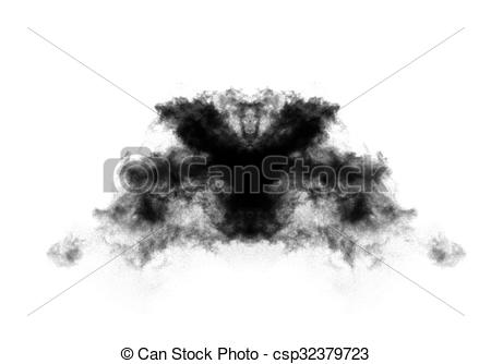 Clip Art of Rorschach test thematic illustration.
